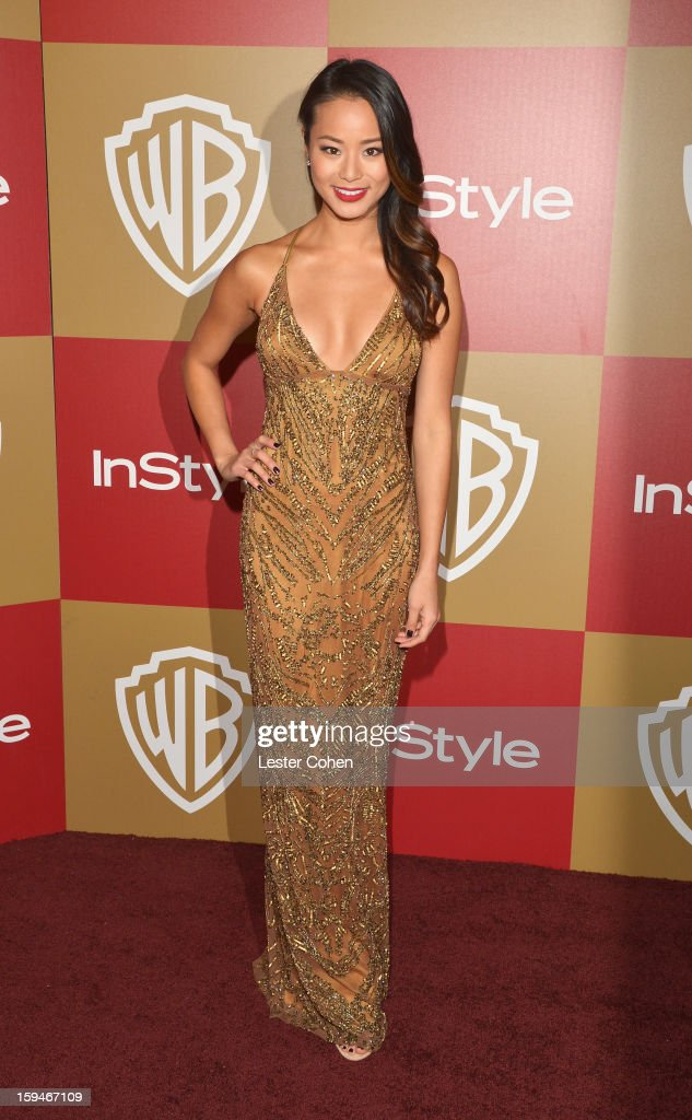 Actress Jamie Chung attends the 2013 InStyle and Warner Bros. 70th Annual Golden Globe Awards Post-Party held at the Oasis Courtyard in The Beverly Hilton Hotel on January 13, 2013 in Beverly Hills, California.