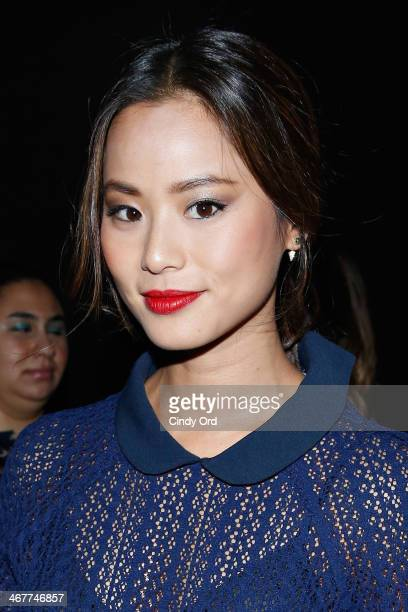 Actress Jamie Chung attends the Charlotte Ronson Fall 2014 Presentation during MercedesBenz Fashion Week at The Hub at The Hudson Hotel on February 7...