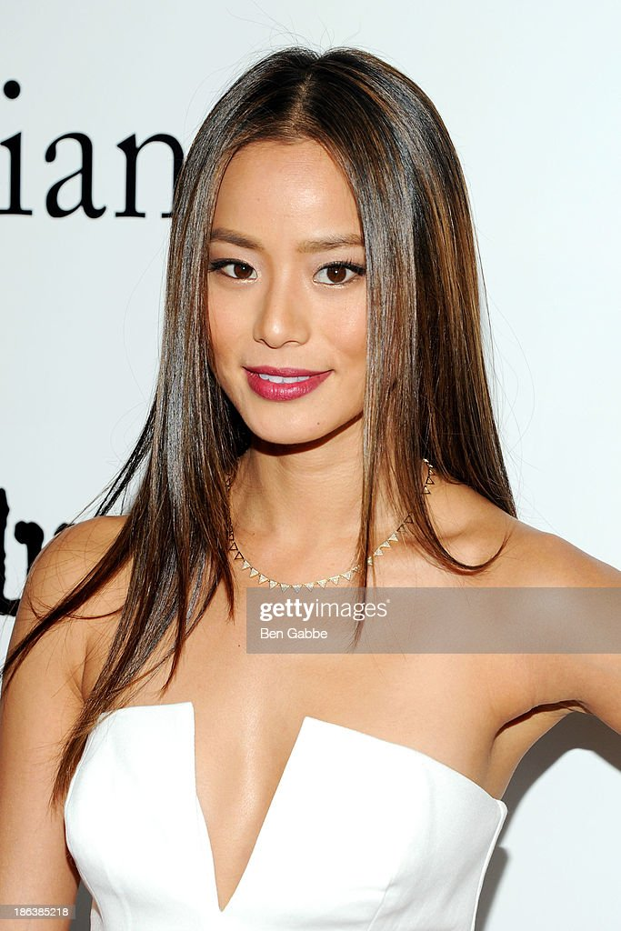 Actress <a gi-track='captionPersonalityLinkClicked' href=/galleries/search?phrase=Jamie+Chung&family=editorial&specificpeople=4145549 ng-click='$event.stopPropagation()'>Jamie Chung</a> attends The Cinema Society with Linda Wells & Allure Magazine premiere of Entertainment One's 'Diana' at SVA Theater on October 30, 2013 in New York City.