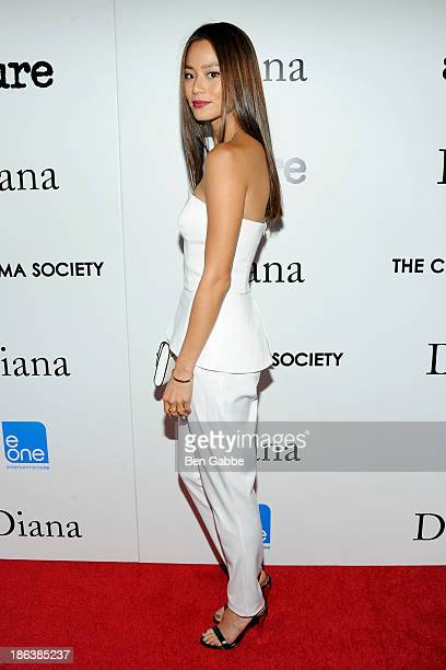 Actress Jamie Chung attends The Cinema Society with Linda Wells Allure Magazine premiere of Entertainment One's 'Diana' at SVA Theater on October 30...