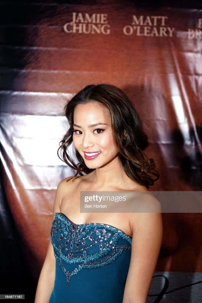 Actress Jamie Chung attends the 'Eden' Los Angeles premiere at Laemmle Music Hall on March 28, 2013 in Beverly Hills, California.
