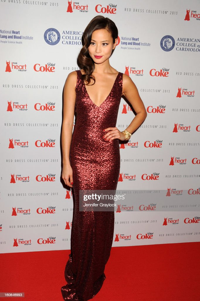 Actress Jamie Chung attends The Heart Truth 2013 Fashion at Hammerstein Ballroom on February 6, 2013 in New York City.
