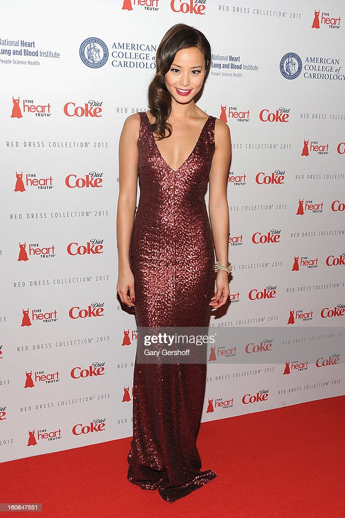 Actress Jamie Chung attends The Heart Truth's Red Dress Collection during Fall 2013 Mercedes-Benz Fashion Week at Hammerstein Ballroom on February 6, 2013 in New York City.