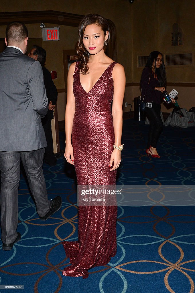 Actress Jamie Chung attends The Heart Truth's Red Dress Collection Fall 2013 Mercedes-Benz Fashion Show at 499 Seventh Avenue on February 6, 2013 in New York City.
