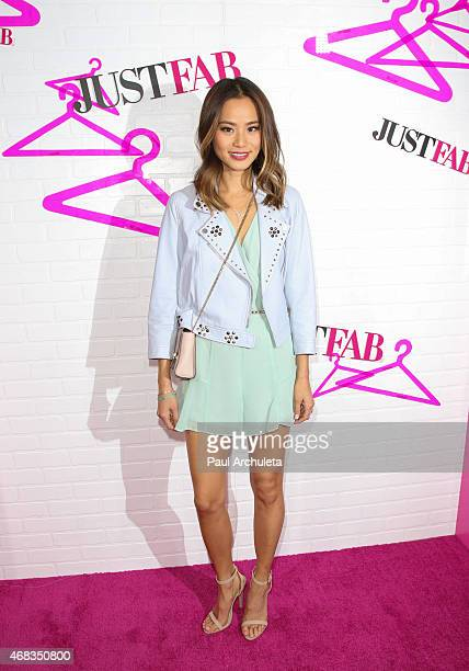 Actress Jamie Chung attends the 'JustFab' apparel launch party at The Sunset Tower on April 1 2015 in West Hollywood California