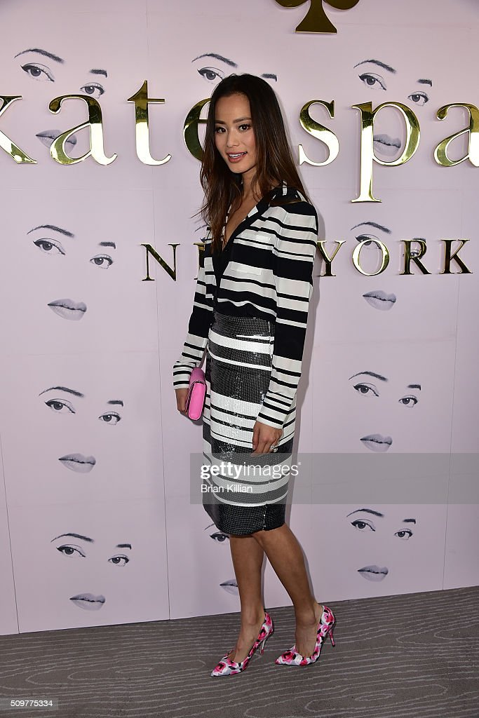 Actress Jamie Chung attends the Kate Spade New York Presentation Fall 2016 show during New York Fashion Week at The Rainbow Room on February 12 2016...