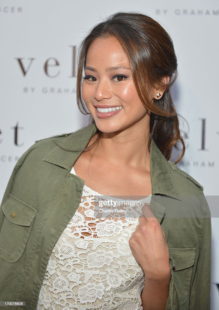 Actress <a gi-track='captionPersonalityLinkClicked' href=/galleries/search?phrase=Jamie+Chung&family=editorial&specificpeople=4145549 ng-click='$event.stopPropagation()'>Jamie Chung</a> attends the opening of the Velvet by Graham & Spencer store on June 6, 2013 in Brentwood, California.