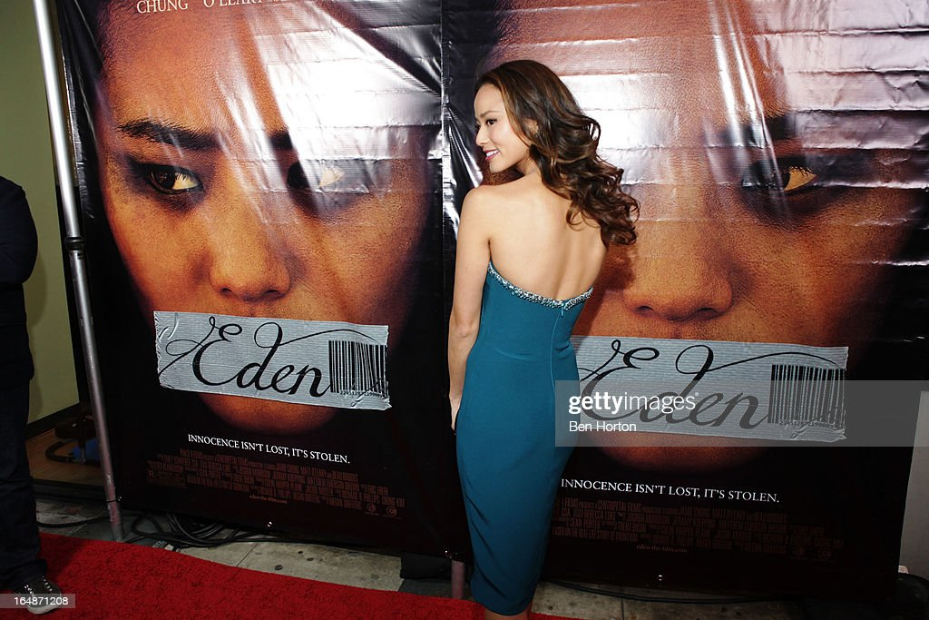 Actress Jamie Chung attends the premiere of 'Eden' at Laemmle Music Hall on March 28, 2013 in Beverly Hills, California.