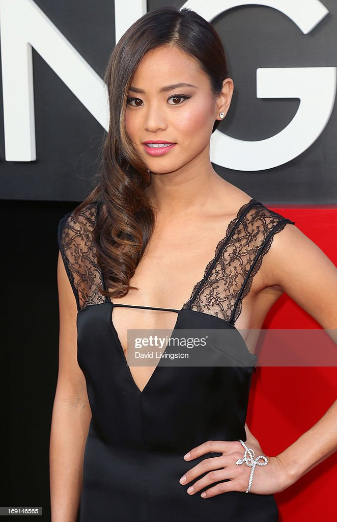 Actress <a gi-track='captionPersonalityLinkClicked' href=/galleries/search?phrase=Jamie+Chung&family=editorial&specificpeople=4145549 ng-click='$event.stopPropagation()'>Jamie Chung</a> attends the premiere of Warner Bros. Pictures' 'Hangover Part III' at the Westwood Village Theater on May 20, 2013 in Westwood, California.