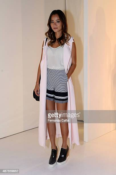 Actress Jamie Chung attends the Rebecca Vallance presentation during Spring 2016 New York Fashion Week The Shows at The Space Skylight at Clarkson Sq...