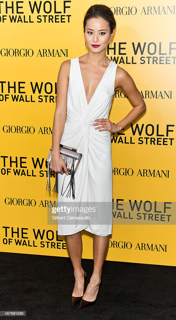 Actress Jamie Chung attends the 'The Wolf Of Wall Street' premiere at Ziegfeld Theater on December 17, 2013 in New York City.