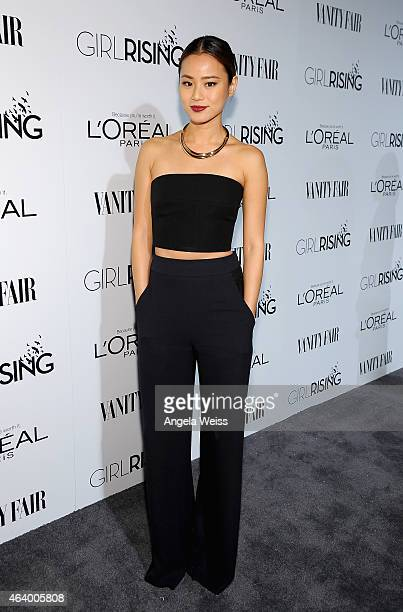 Actress Jamie Chung attends VANITY FAIR and L'Oreal Paris DJ Night hosted by Freida Pinto to benefit Girl Rising at 1OAK on February 20 2015 in Los...