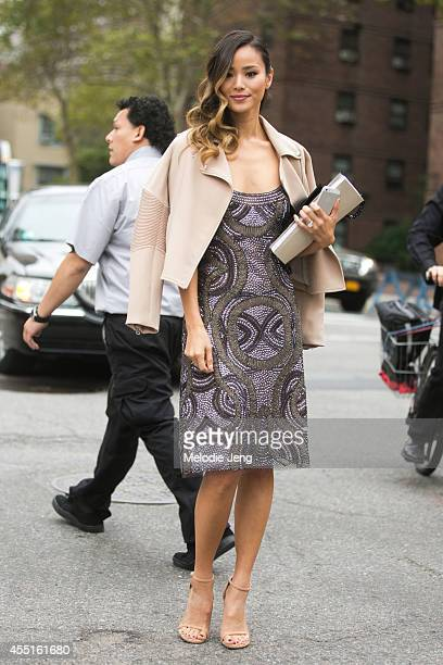 Actress Jamie Chung exits Naeem Khan in Naeem Khan on Day 6 of New York Fashion Week Spring/Summer 2015 on September 9 2014 in New York City