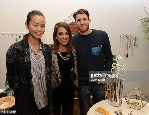 Actress Jamie Chung founder of Simply Stylist Sarah Boyd and actor Bryan Greenberg attend Sarah Boyd x CapwellCo Jewelry Collaboration NYFW Launch on...