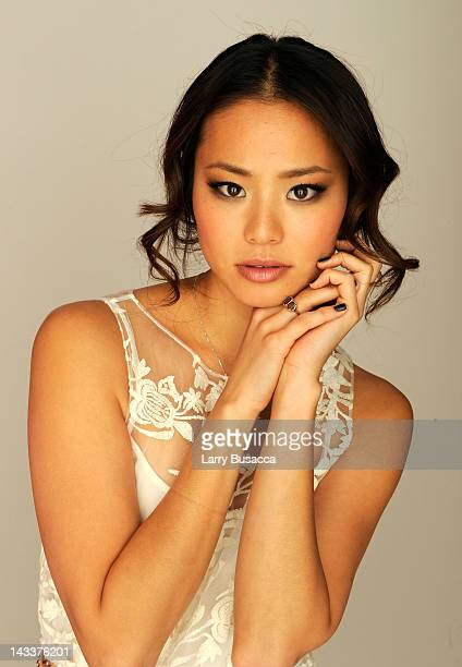 Actress Jamie Chung of the film 'Knife Fight' visits the Tribeca Film Festival 2012 portrait studio at the Cadillac Tribeca Press Lounge on April 25...