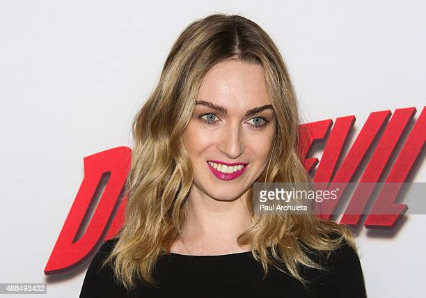 Actress Jamie Clayton attends the premiere of 'Marvel's Daredevil' at Regal Cinemas LA Live on April 2 2015 in Los Angeles California