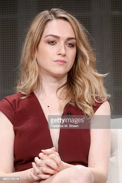 Actress Jamie Clayton speaks onstage during the 'Sense8' panel discussion at the Netflix portion of the 2015 Summer TCA Tour at The Beverly Hilton...
