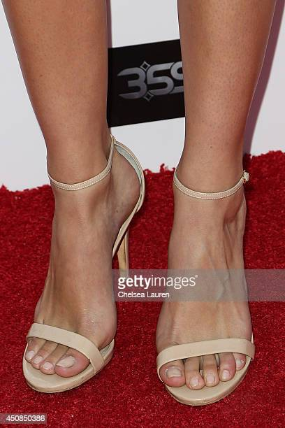Actress Jamie Gray Hyder arrives at the 'La Bare' premiere on June 18 2014 in Los Angeles California