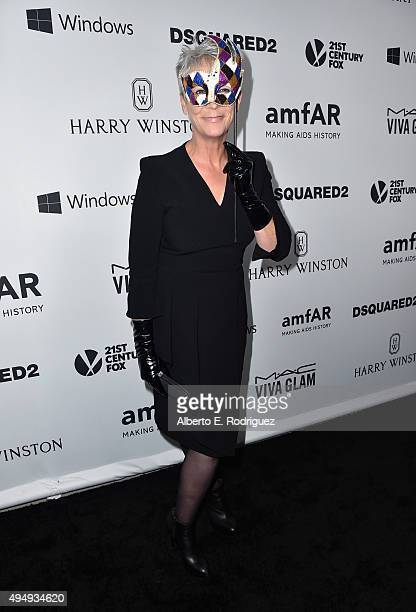 Actress Jamie Lee Curits attends amfAR's Inspiration Gala Los Angeles at Milk Studios on October 29 2015 in Hollywood California