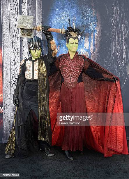 Actress Jamie Lee Curtis and son Tom Guest attend the premiere of Universal Pictures' 'Warcraft at TCL Chinese Theatre IMAX on June 6 2016 at TCL...
