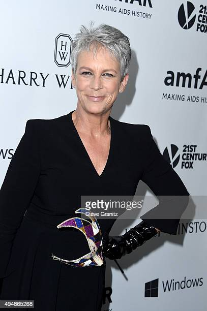 Actress Jamie Lee Curtis attends amfAR's Inspiration Gala Los Angeles at Milk Studios on October 29 2015 in Hollywood California