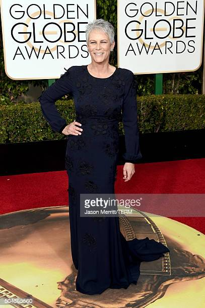 Actress Jamie Lee Curtis attends the 73rd Annual Golden Globe Awards held at the Beverly Hilton Hotel on January 10 2016 in Beverly Hills California