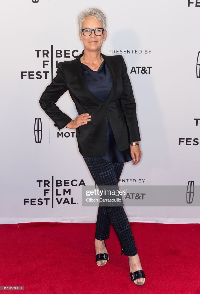 Actress Jamie Lee Curtis attends the 'Hondros' Premiere during 2017 Tribeca Film Festival at Cinepolis Chelsea on April 21, 2017 in New York City.