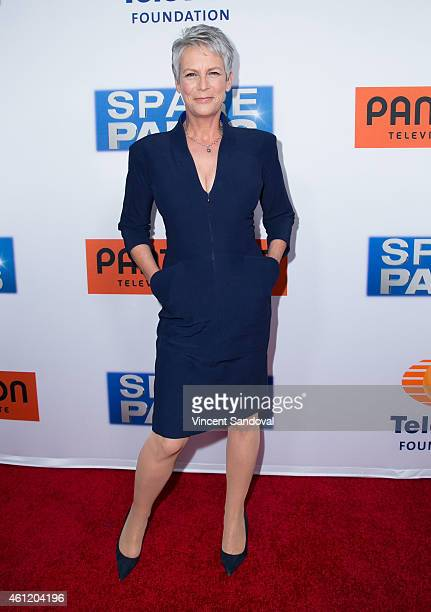 Actress Jamie Lee Curtis attends the premiere of Pantelion Films 'Spare Parts' at ArcLight Cinemas on January 8 2015 in Hollywood California