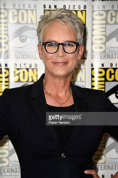 Actress Jamie Lee Curtis attends the 'Scream Queens' press line during ComicCon International at Hilton Bayfront on July 22 2016 in San Diego...