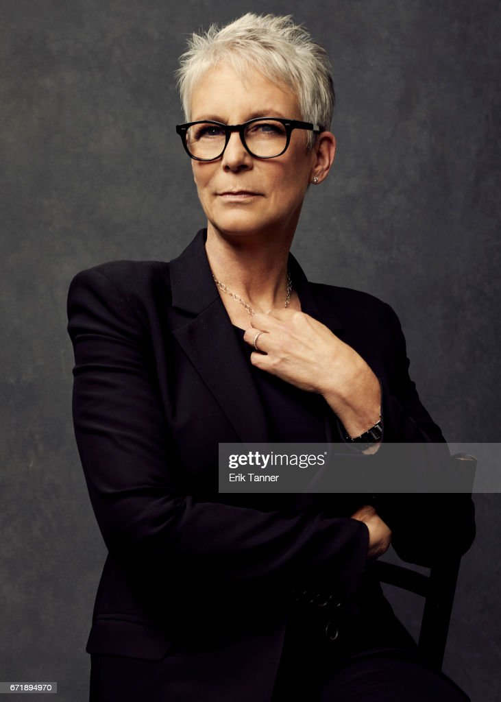Actress Jamie Lee Curtis from 'Hondros' poses at the 2017 Tribeca Film Festival portrait studio on April 21, 2017 in New York City.