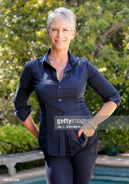 Actress Jamie Lee Curtis is photographed in her home for Los Angeles Times on August 13 2015 in Santa Monica California PUBLISHED IMAGE CREDIT MUST...