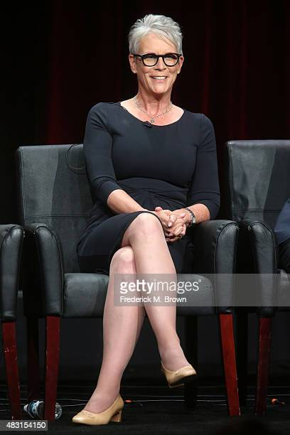 Actress Jamie Lee Curtis speaks onstage during the 'Scream Queens' panel discussion at the FOX portion of the 2015 Summer TCA Tour at The Beverly...