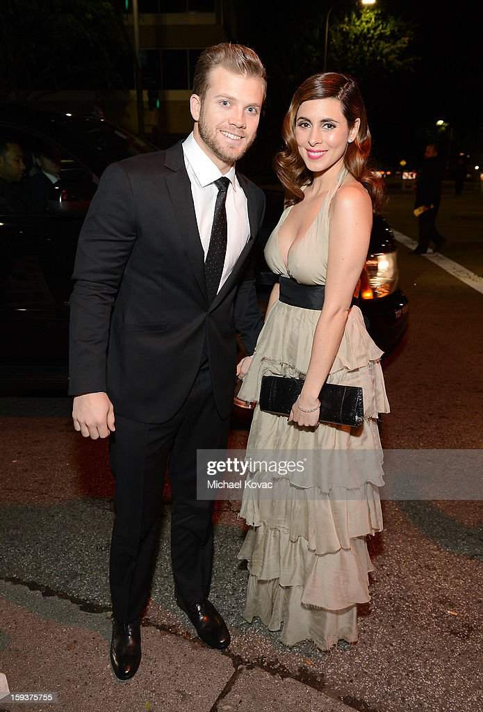 Actress Jamie-Lynn Sigler and Cutter Dykstra attend The Art of Elysium's 6th Annual HEAVEN Gala presented by Audi at 2nd Street Tunnel on January 12, 2013 in Los Angeles, California.