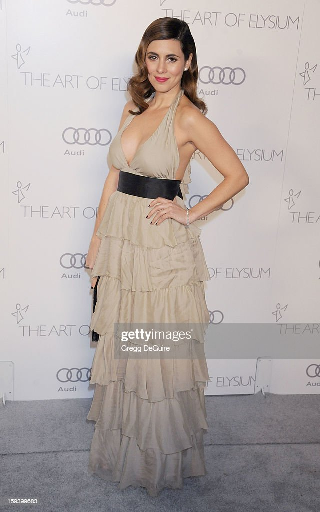 Actress Jamie-Lynn Sigler arrives at The Art of Elysium's Heaven Gala at 2nd Street Tunnel on January 12, 2013 in Los Angeles, California.