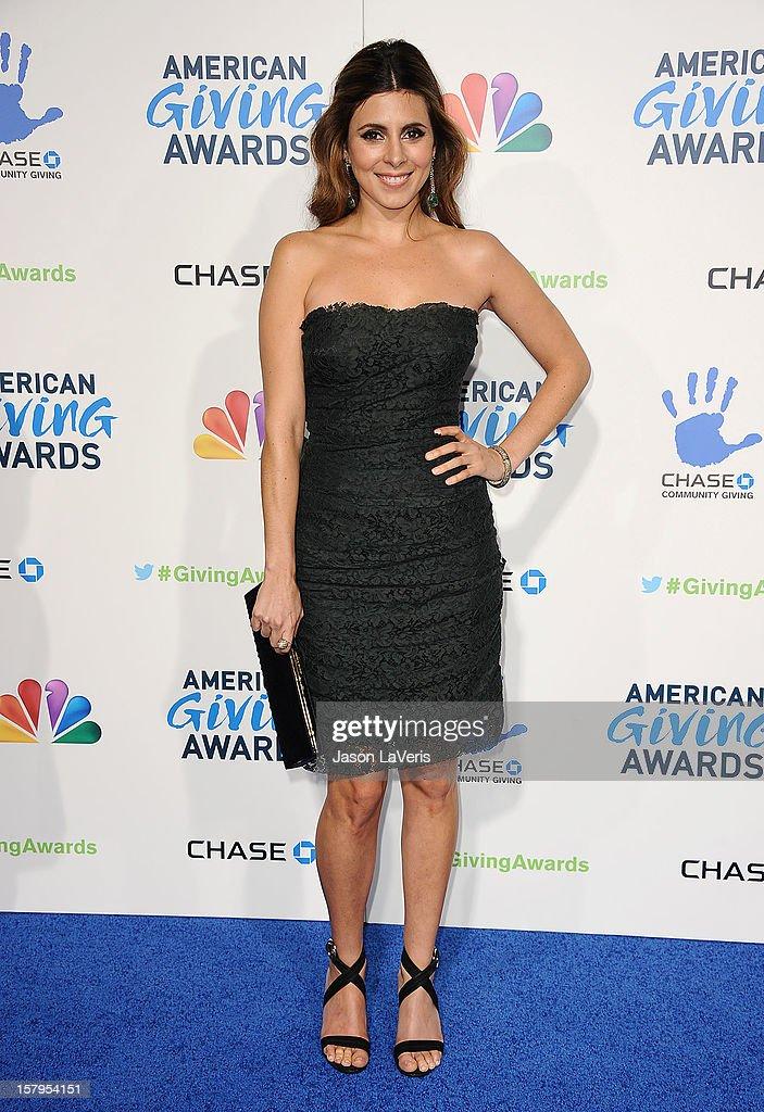 Actress Jamie-Lynn Sigler attends 2012 American Giving Awards at Pasadena Civic Auditorium on December 7, 2012 in Pasadena, California.