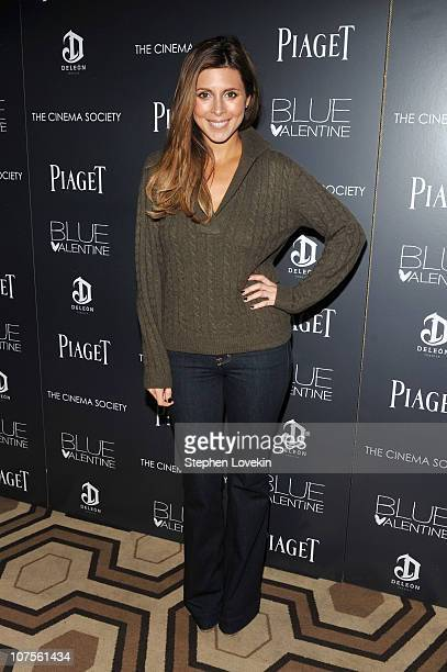 Actress JamieLynn Sigler attends the Cinema Society Piaget screening of 'Blue Valentine' at theTribeca Grand Hotel on December 13 2010 in New York...