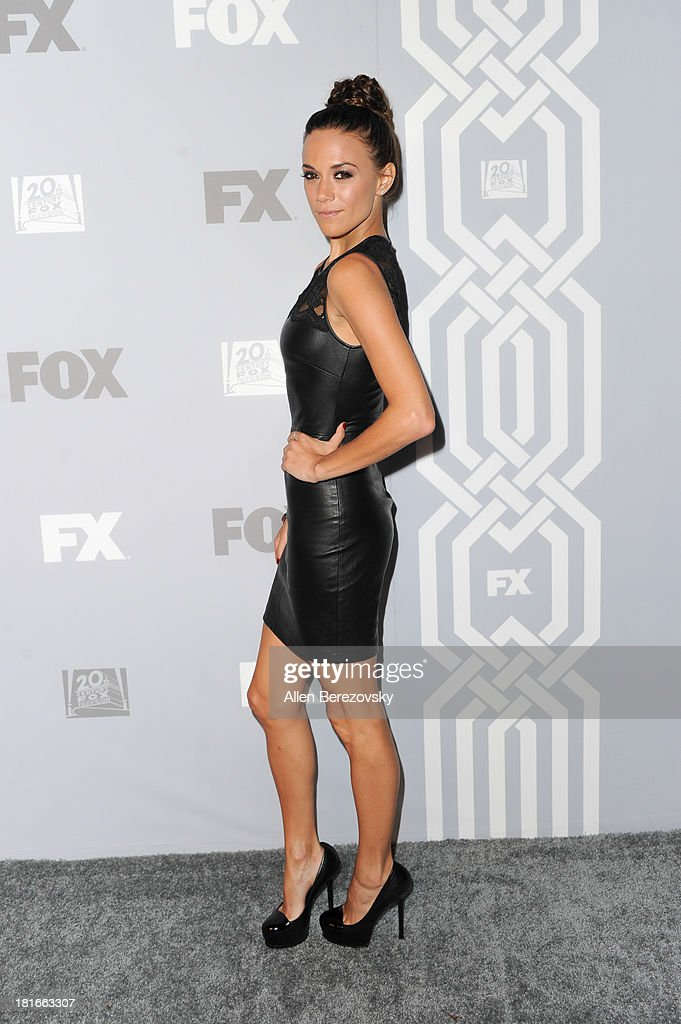 Actress <a gi-track='captionPersonalityLinkClicked' href=/galleries/search?phrase=Jana+Kramer&family=editorial&specificpeople=569861 ng-click='$event.stopPropagation()'>Jana Kramer</a> attends the Fox Broadcasting, Twentieth Century Fox Television and FX 2013 Emmy nominees celebration at Soleto on September 22, 2013 in Los Angeles, California.