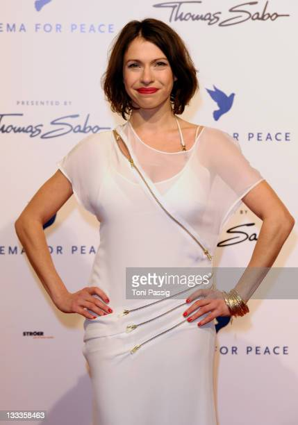 Actress Jana Pallaske attends the Annual Cinema For Peace Gala during day five of the 60th Berlin International Film Festival at the Konzerthaus am...