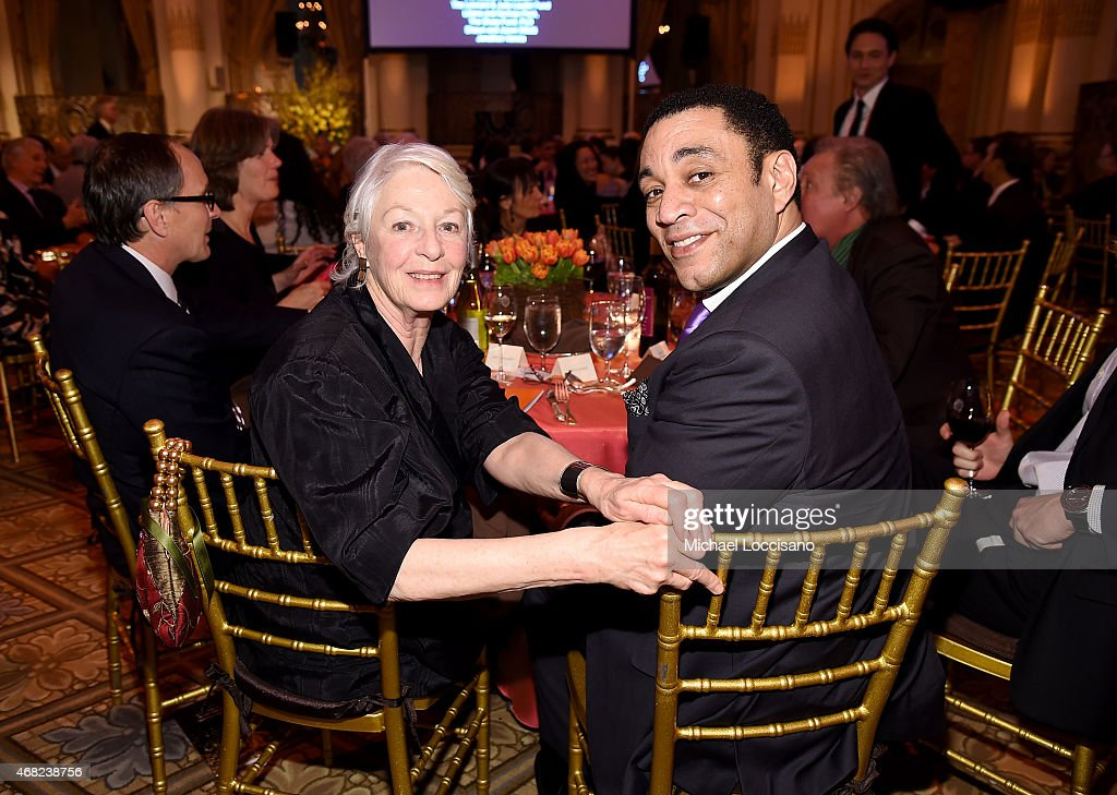 Actress Jane Alexander and actor Harry Lennix attend The 2015 National Audubon Society Gala Dinner at The Plaza Hotel on March 31 2015 in New York...