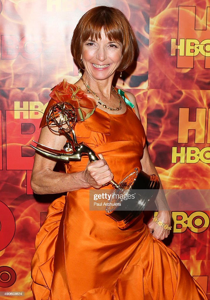 Actress <a gi-track='captionPersonalityLinkClicked' href=/galleries/search?phrase=Jane+Anderson&family=editorial&specificpeople=2243577 ng-click='$event.stopPropagation()'>Jane Anderson</a> attends the HBO's Official 2015 Emmy After Party at The Plaza at the Pacific Design Center on September 20, 2015 in Los Angeles, California.