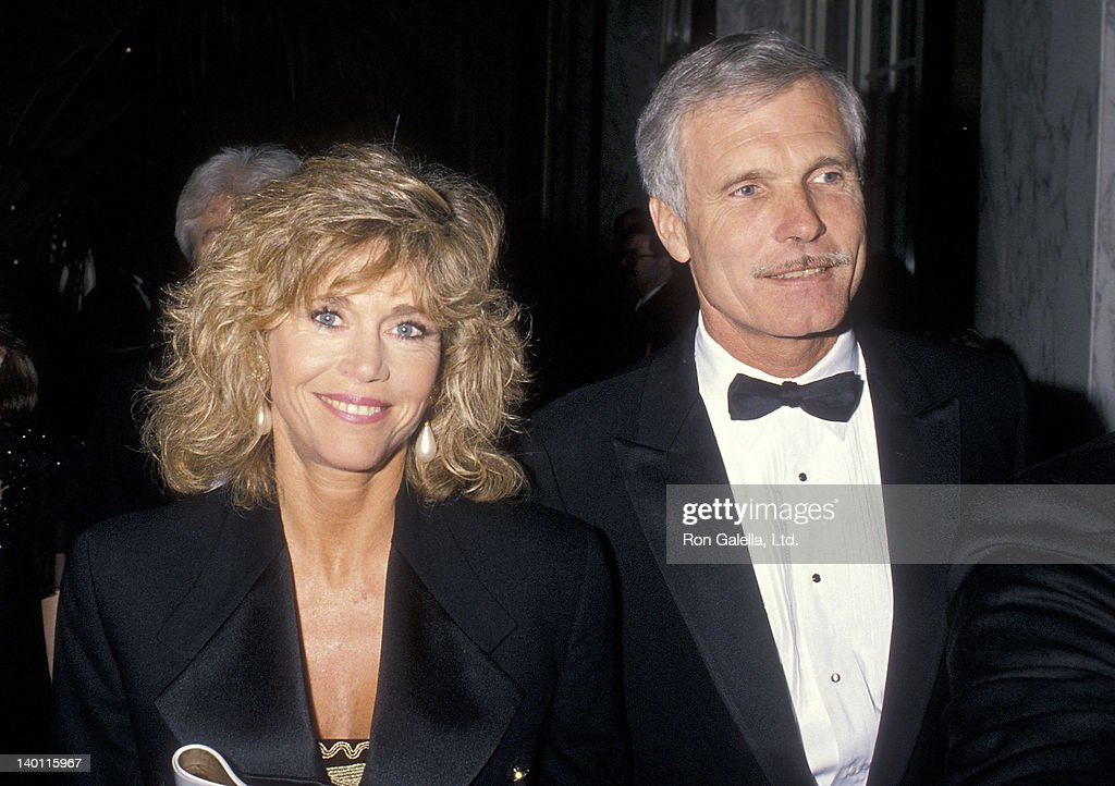 Actress <a gi-track='captionPersonalityLinkClicked' href=/galleries/search?phrase=Jane+Fonda&family=editorial&specificpeople=202174 ng-click='$event.stopPropagation()'>Jane Fonda</a> and businessman <a gi-track='captionPersonalityLinkClicked' href=/galleries/search?phrase=Ted+Turner+-+Businessman&family=editorial&specificpeople=203000 ng-click='$event.stopPropagation()'>Ted Turner</a> attend the Volunteers of America's First Annual Glasnost Award Salute to <a gi-track='captionPersonalityLinkClicked' href=/galleries/search?phrase=Ted+Turner+-+Businessman&family=editorial&specificpeople=203000 ng-click='$event.stopPropagation()'>Ted Turner</a> on March 22, 1990 at the Regent Beverly Wilshire Hotel in Beverly Hills, California.