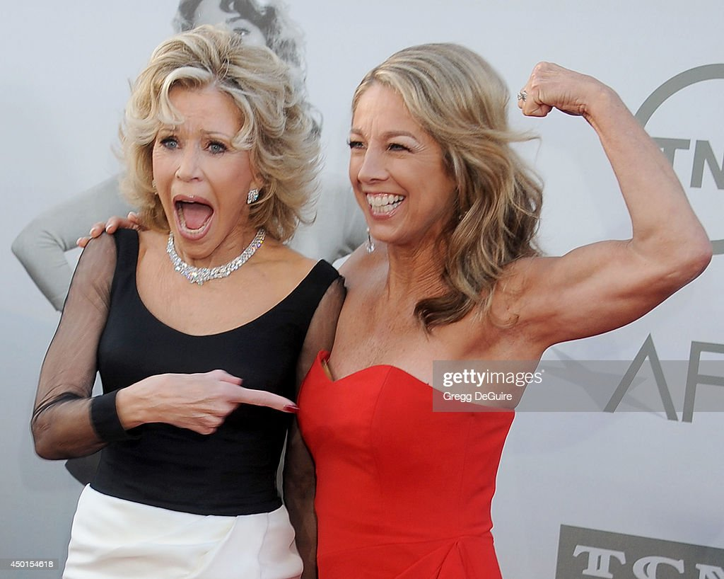 Actress <a gi-track='captionPersonalityLinkClicked' href=/galleries/search?phrase=Jane+Fonda&family=editorial&specificpeople=202174 ng-click='$event.stopPropagation()'>Jane Fonda</a> and fitness instructor <a gi-track='captionPersonalityLinkClicked' href=/galleries/search?phrase=Denise+Austin&family=editorial&specificpeople=956724 ng-click='$event.stopPropagation()'>Denise Austin</a> arrives at the 2014 AFI Life Achievement Award Gala Tribute at Dolby Theatre on June 5, 2014 in Hollywood, California.