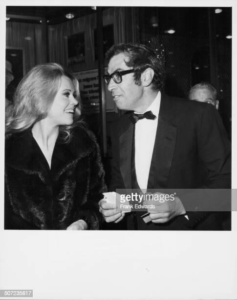 Actress Jane Fonda and her husband director Roger Vadim attending the premiere of 'Isadora' December 1968