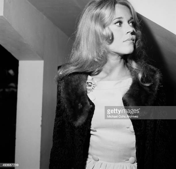 Actress Jane Fonda and husband Roger Vadim attend a party in Los Angeles California