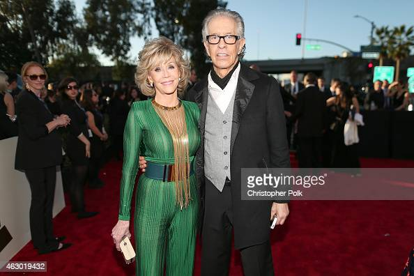 Actress Jane Fonda and producer Richard Perry attend The 57th Annual GRAMMY Awards at the STAPLES Center on February 8 2015 in Los Angeles California