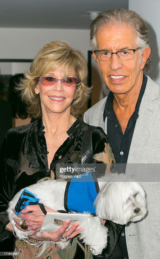 Actress Jane Fonda (L) and producer Richard Perry attend the Pattie Boyd: Newly Discovered Photo Exhibition at Morrison Hotel Gallery on June 28, 2013 in West Hollywood, California.