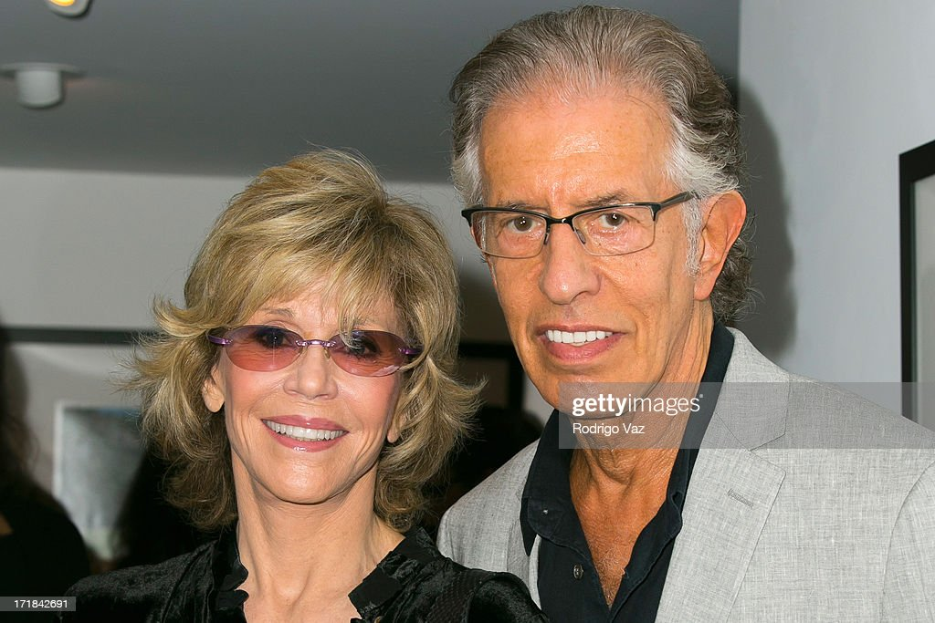 Actress <a gi-track='captionPersonalityLinkClicked' href=/galleries/search?phrase=Jane+Fonda&family=editorial&specificpeople=202174 ng-click='$event.stopPropagation()'>Jane Fonda</a> (L) and producer <a gi-track='captionPersonalityLinkClicked' href=/galleries/search?phrase=Richard+Perry+-+Music+Producer&family=editorial&specificpeople=7888087 ng-click='$event.stopPropagation()'>Richard Perry</a> attend the Pattie Boyd: Newly Discovered Photo Exhibition at Morrison Hotel Gallery on June 28, 2013 in West Hollywood, California.