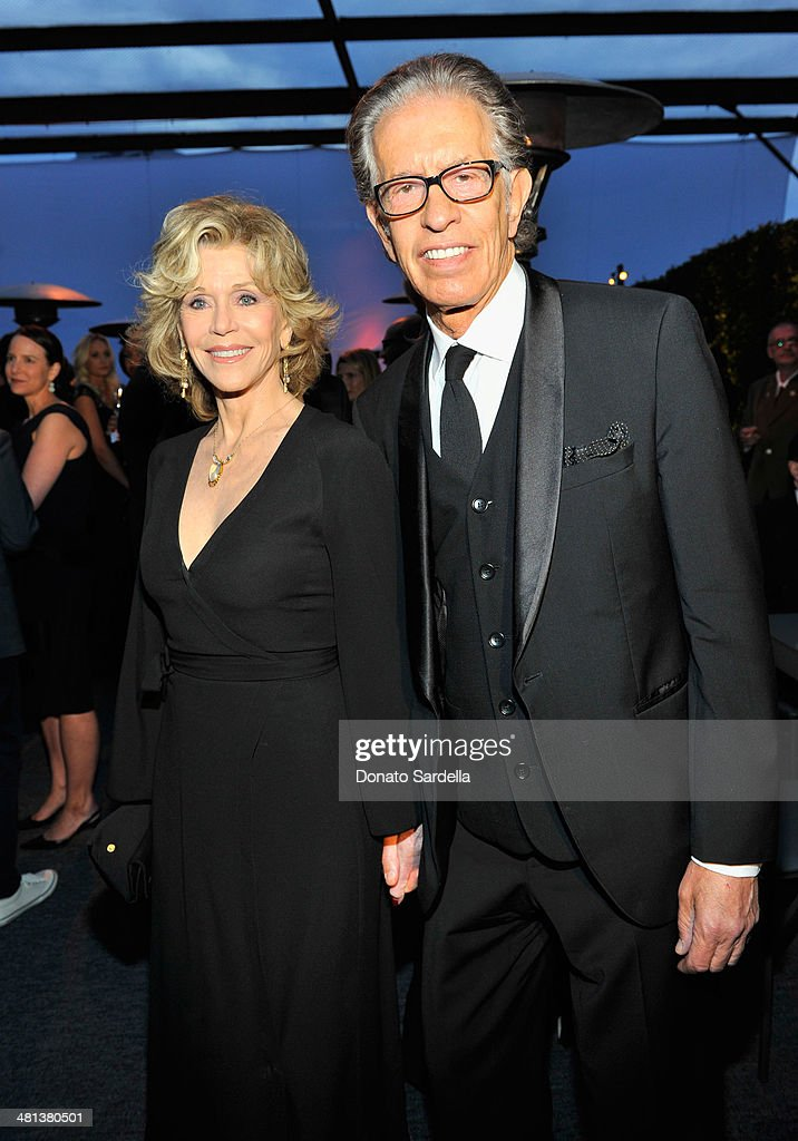 Actress <a gi-track='captionPersonalityLinkClicked' href=/galleries/search?phrase=Jane+Fonda&family=editorial&specificpeople=202174 ng-click='$event.stopPropagation()'>Jane Fonda</a> (L) and record producer Richard Perry attend MOCA's 35th Anniversary Gala presented by Louis Vuitton at The Geffen Contemporary at MOCA on March 29, 2014 in Los Angeles, California.