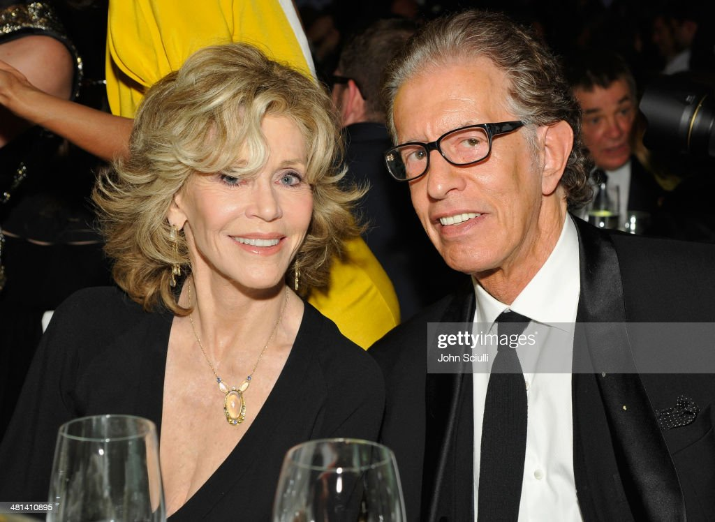 Actress <a gi-track='captionPersonalityLinkClicked' href=/galleries/search?phrase=Jane+Fonda&family=editorial&specificpeople=202174 ng-click='$event.stopPropagation()'>Jane Fonda</a> and record producer Richard Perry attend MOCA's 35th Anniversary Gala presented by Louis Vuitton at The Geffen Contemporary at MOCA on March 29, 2014 in Los Angeles, California.