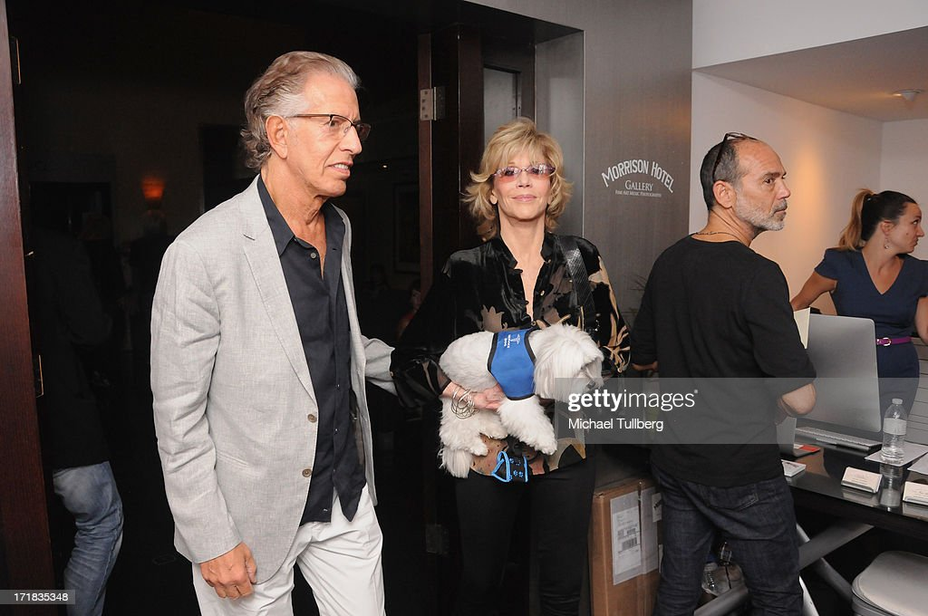 Actress Jane Fonda and Richard Perry attend an exhibition of photographer Pattie Boyd's photographs entitled 'Pattie Boyd: Newly Discovered' at Morrison Hotel Gallery on June 28, 2013 in West Hollywood, California.